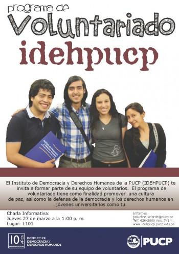Voluntariado IDEHPUCP Flyer