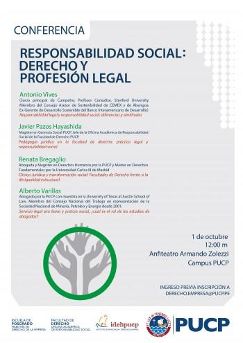 Evento RSE Facultad de Derecho