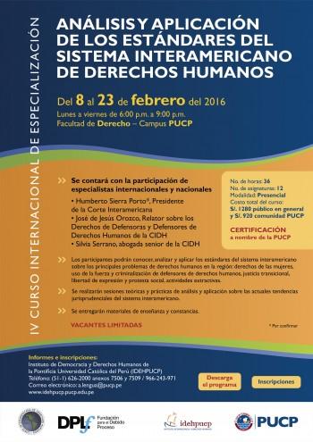 Afiche Curso Corte IDH